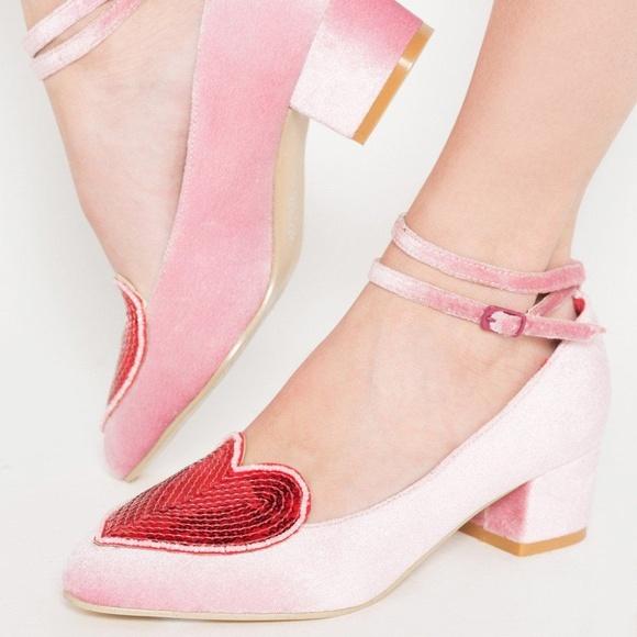 72ae196c837 Iron Fist Shoes   Turkish Delight Court Heels Velvet Heart   Poshmark